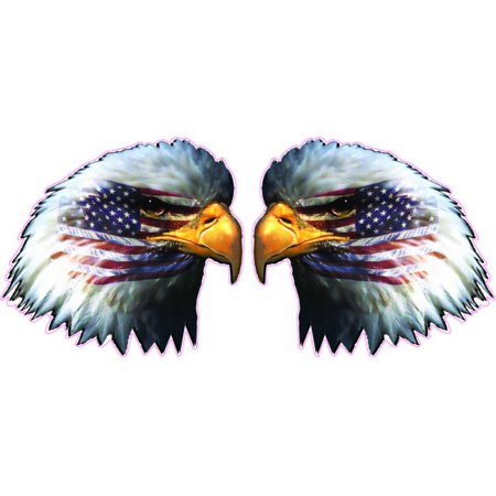 Eagle Head Decal (American Flag Eagle Head Pair 8