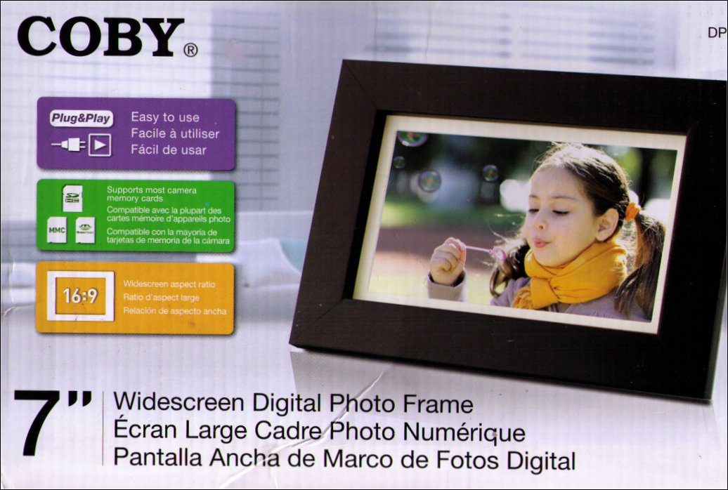 Coby 7-Inch Widescreen Digital Photo Frame Wood Design DP700WD ...