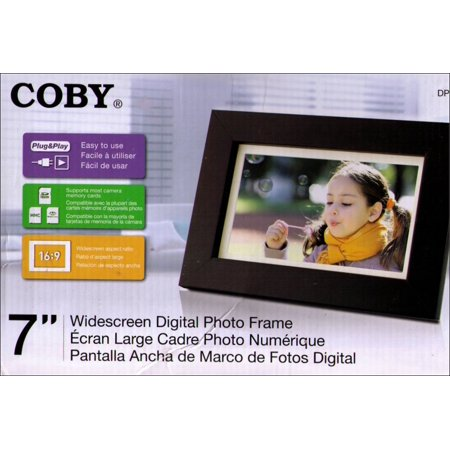 Coby 7 Inch Widescreen Digital Photo Frame Wood Design Dp700wd