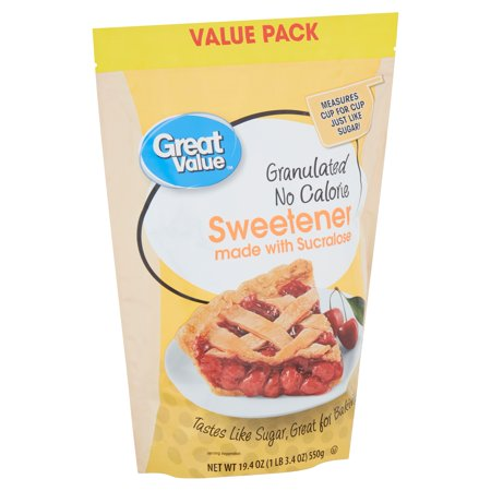 Secretion Sweetener (Great Value Granulated No Calorie Sweetener Value Pack, 19.4)
