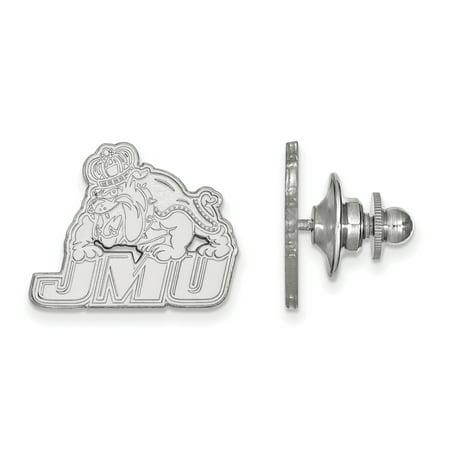 Roy Rose Jewelry 14K White Gold LogoArt James Madison University Lapel Pin