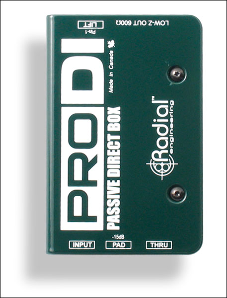 Radial Engineering ProDI Passive Direct Box by Radial Engineering