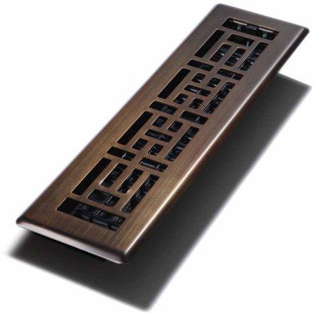 Decor grates oriental register plated bronze 2 x 12 for Decor grates