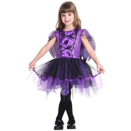 Kids Halloween Bat Costume (Purple Bat Child Halloween)
