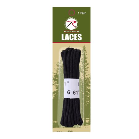 "61"" Black Boot Laces Up For Military Boots by"