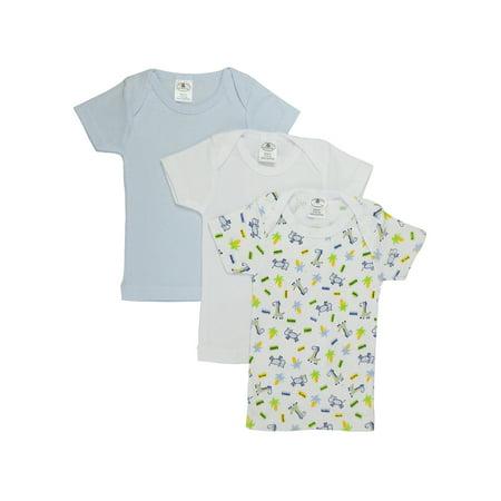 Bambini Baby Boy's White, Blue, Printed Rib Knit Short Sleeve T-Shirt 3 - Pack (Mostri Halloween Bambini)