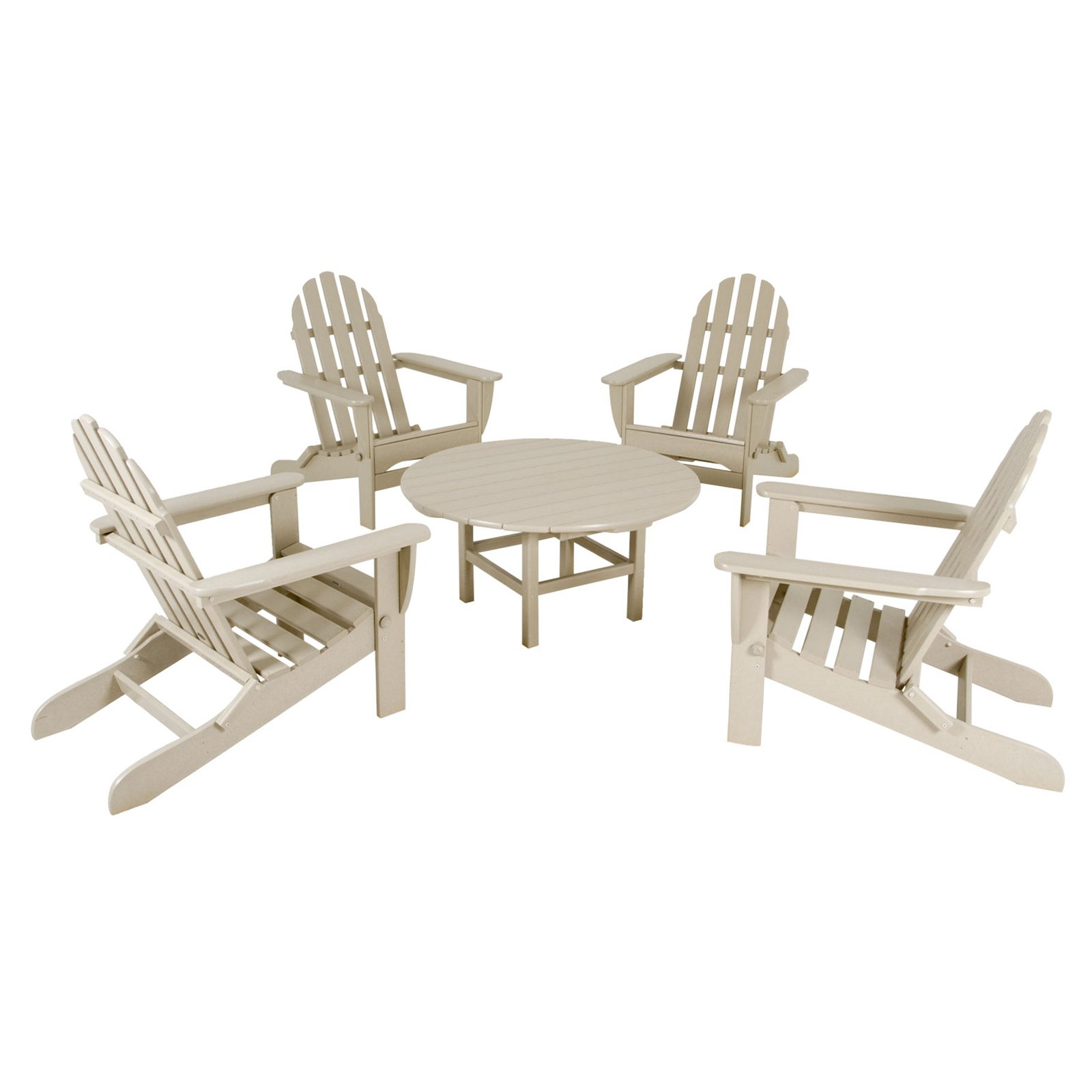 POLYWOOD® Classic Adirondack 5 pc. Conversation Group