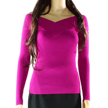 Reversible Knit Top - INC NEW Purple Womens Size Small S Reversible Ribbed Stretch Knit Top