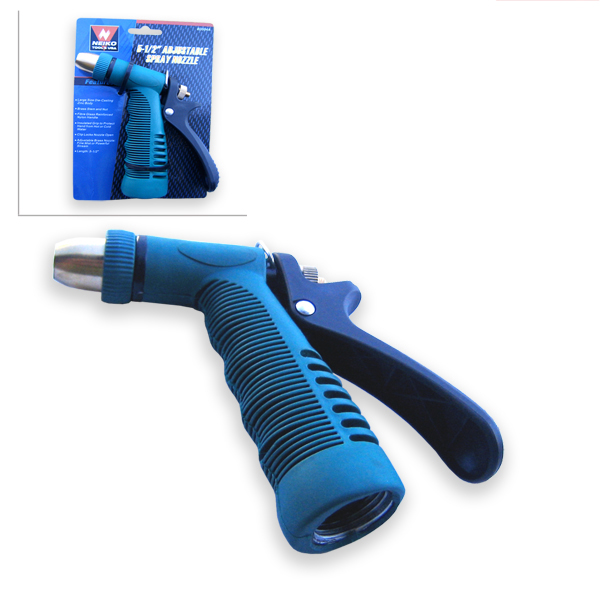 "5.5"" Adjustable Insulated Grip Garden Hose Water Spray Nozzle End Sprayer by"