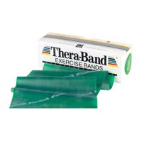 TheraBand Professional Latex Resistance Bands, 5 Foot, Green, Heavy, Intermediate Level 1, Individual Package
