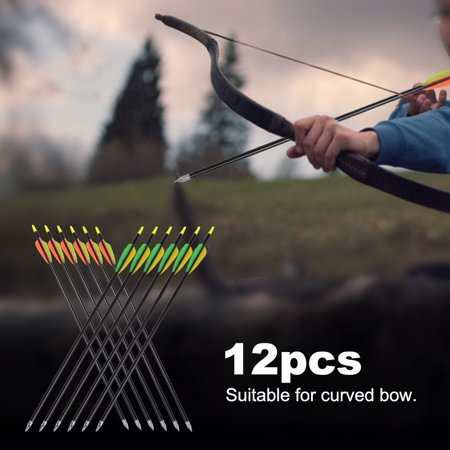 Arrow,Zerone 12pcs 20inch Aluminium Alloy Arrow Compound Curved Bow Archery Accessory