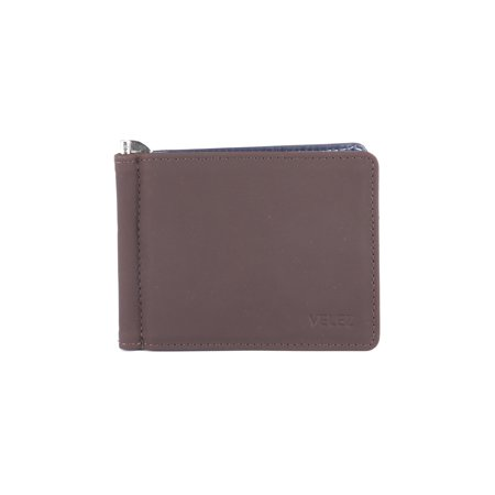 81523ca91 VELEZ - Velez Men Genuine Real Leather Bifold Credit Card Holder Slim  Horizontal Standard Travel Wallet Slim Money Clip Carteras de Cuero para  Hombres Brown ...