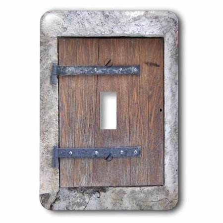 3dRose Wooden medieval style trap door photo print - offbeat humor - unusual bizarre humorous fun funny, Single Toggle Switch
