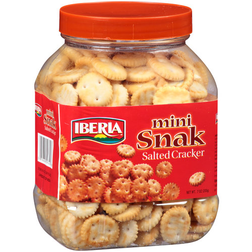 Iberia Mini Snak Salted Crackers, 7 oz