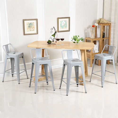 Belleze 24'' Bar Stools (Set of 4)