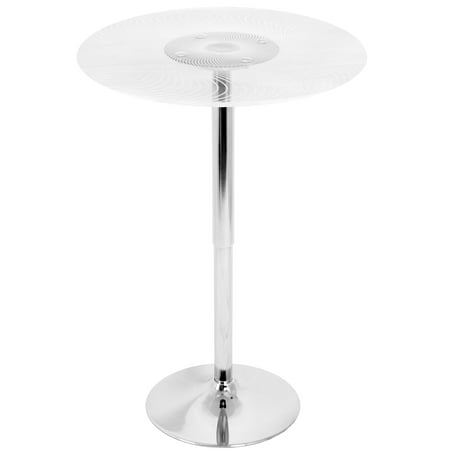 Spyra Contemporary Light Up Adjustable Bar Table by LumiSource
