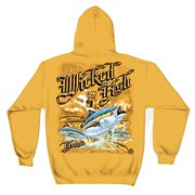 Wicked Fish Tuna Hooded Sweatshirt by , Yellow, 2XL