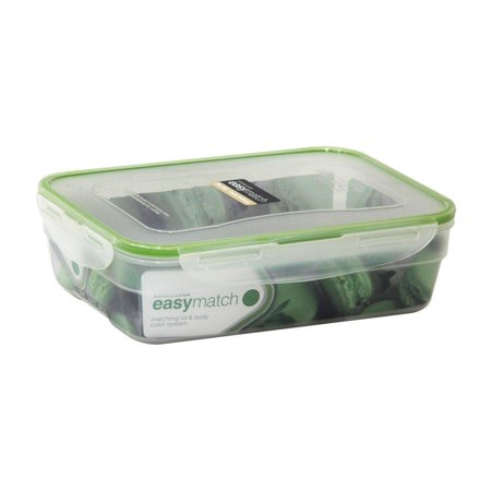 LOCK & LOCK HPL341EM EASY MATCH Nestable Rectangle Food Storage Container 10.14-Cup -