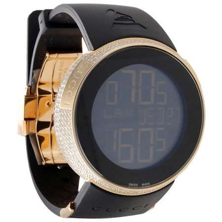 999013e0dd1 Gucci - Diamond I- Watch Digital Grammy Edition YA114215 Black Gold 2.5 CT  - Walmart.com