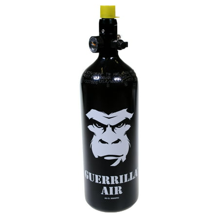 Guerrilla Air 3000 PSI HPA / N2 Paintball Tank - 62CI Black