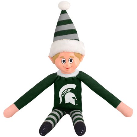 Men's College Halloween Costumes 2019 (Forever Collectibles NCAA Team Elf, Michigan State)