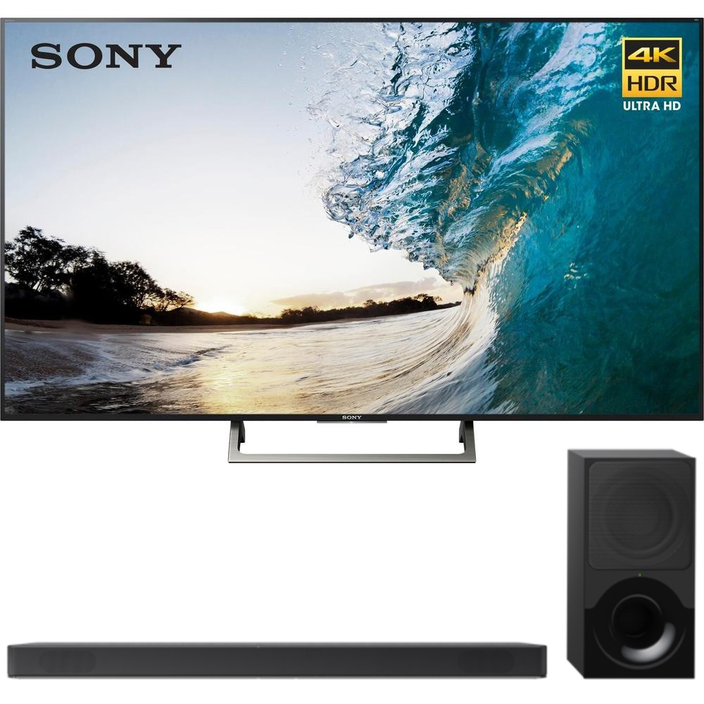 "Sony 75"" Class 4K Ultra HD (2160P) HDR Android Smart LED TV (XBR75X850E) with Sony 2.1ch Soundbar with Dolby Atmos"