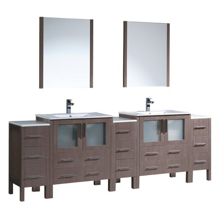Fresca Torino 96 in Double Bathroom Vanity with Integrated Sinks