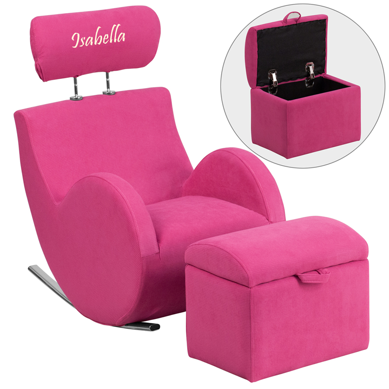 Flash Furniture Personalized HERCULES Series Pink Fabric ...