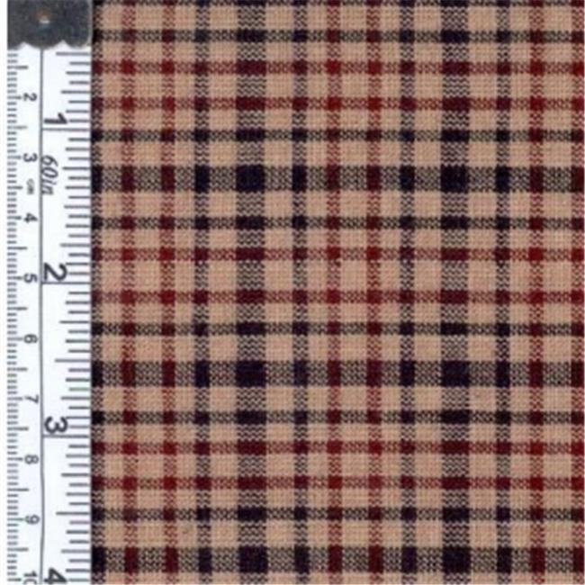 Textile Creations OG-31 Old Glory Fabric, Plaid Black,Wine And Natural, 15 yd.