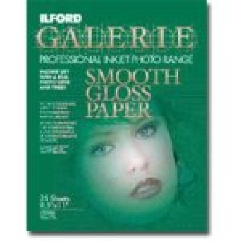 ILFORD Galerie Professional Inkjet 8.5X11-25 Sheet - Smooth Gloss