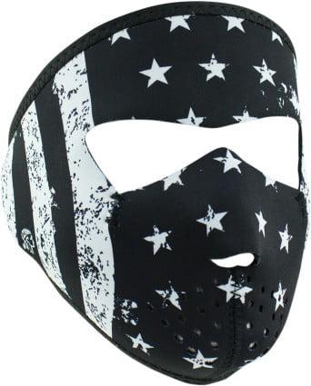 Zan Headgear Full Face Neoprene Mask For Small Faces Black White Flag by Balboa Manufacturing