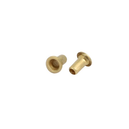 Unique Bargains 500pcs M1.3x2.5mm Brass Plated Metal Hollow Eyelets Rivets Gold Tone - image 1 of 3