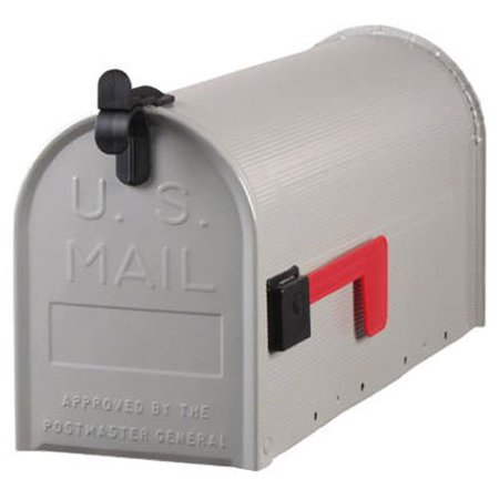 Group ST100000 PostMaster Standard Size Galvanized Steel Rural Mailbox U.S. Postmaster General Approved, Gray, The product is GRY T1 Rural.., By (Solar Group Rural Mailbox)