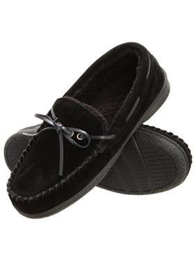 ca8d24db87d1 Product Image Heat Edge Mens Memory Foam Suede Slip On Indoor Outdoor  Moccasin Slipper Shoe