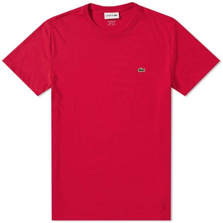 Pima Crewneck Tee - Lacoste Men Standard Short Sleeve Pima Crewneck Tee