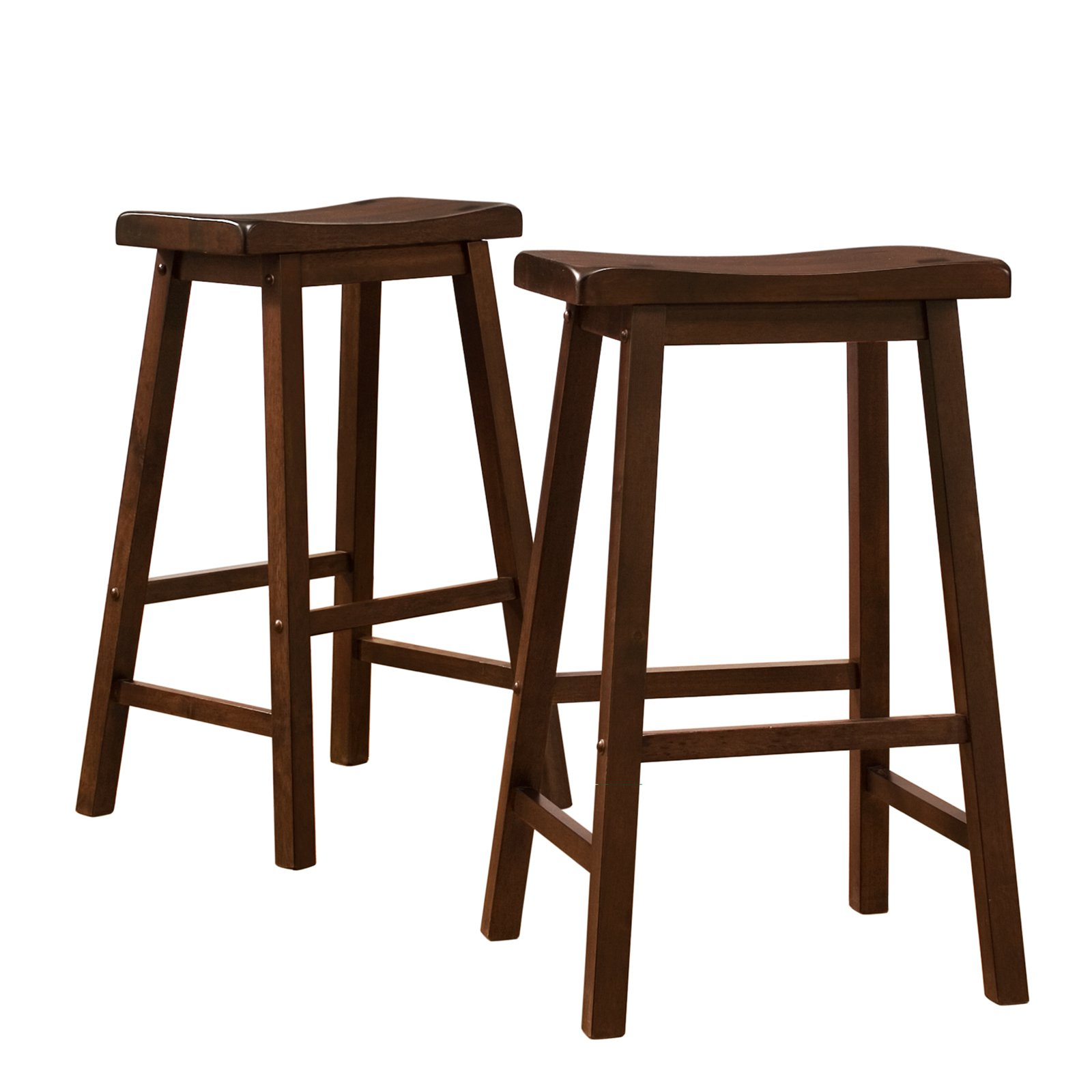 Ashby Counter Stools 24 Set Of 2 Walnut Walmartcom