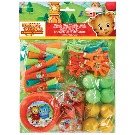Daniel Tigers Neighborhood Mega Favor Mix (48 Count) - Daniel Tiger Fabric