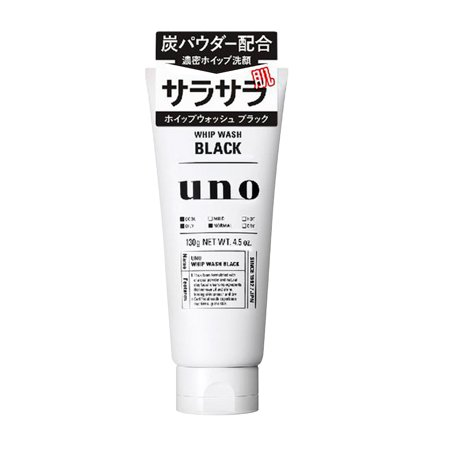 Shiseido Black Uno Whip Facial Cleanser, 130g