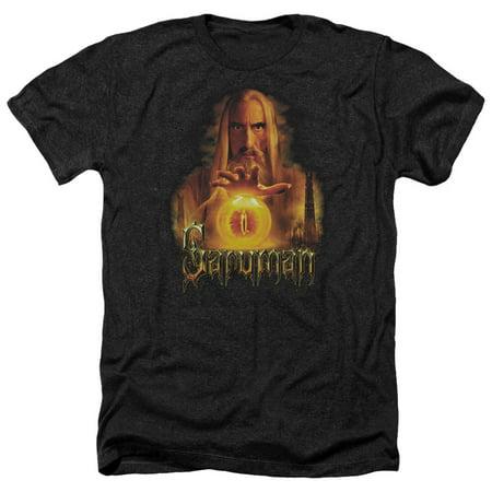 The Lord Of The Rings Movie Saruman Sauron Palantir Adult Heather T Shirt Tee