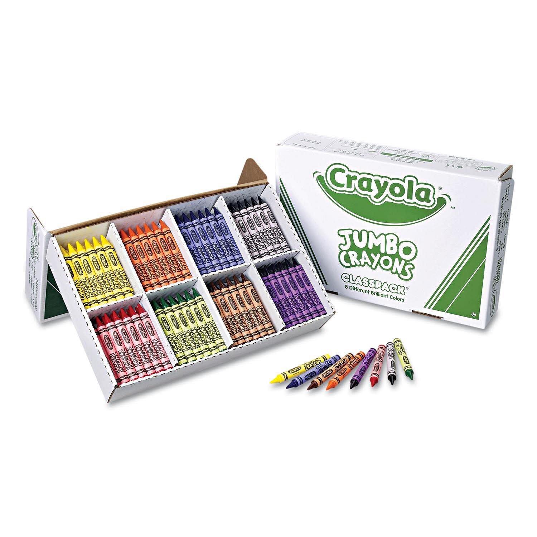 Crayola Classpack Jumbo Crayons, 8 Colors, 200 Total