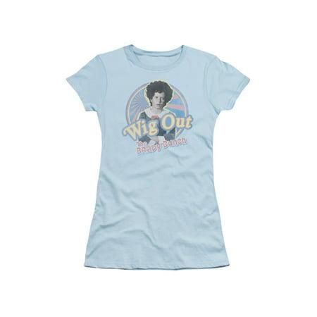 Brady Bunch TV Show Wig Out Juniors Sheer T-Shirt Tee - Carol Brady Wig