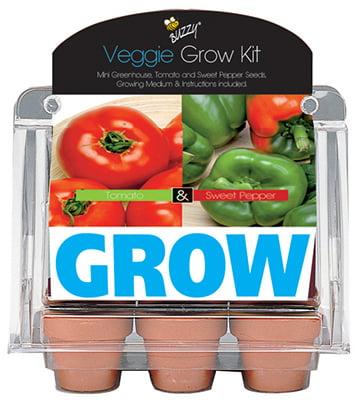 Image of Buzzy 94552 6 Pot Veggie Mini Greenhouse