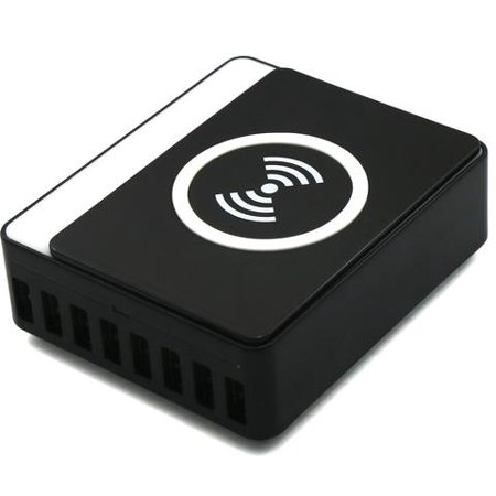 Wireless Smart Charging Station 60W With 8 USB Ports, Qi Certified