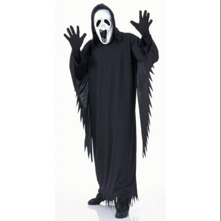 Halloween White Ghost Costume (Rubie's Mens 'Howling Ghost' Halloween Costume, Black/White,)