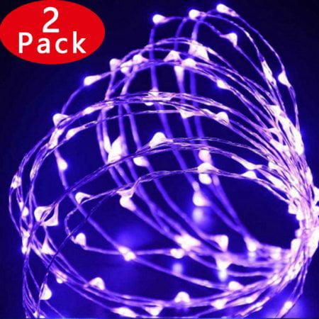 4Pack Qedrtek Solar Rope String Lights Chrisatma lights 2...