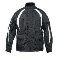 Fulmer, TRS2BLKL, Men's TRS2 StormTrak Rain Suit Motorcycle Rain Jacket, Pants & Carry Bag - Black, L