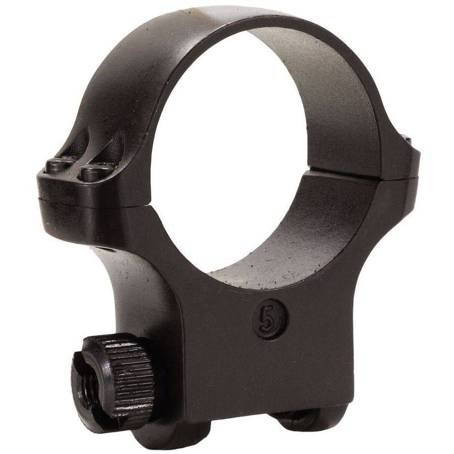 Ruger 90322 Clam Pack Single Ring, High, 30mm Diameter, Hawkeye Matte Blued