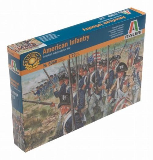 1/72 American Infantry-War/Independence Multi-Colored