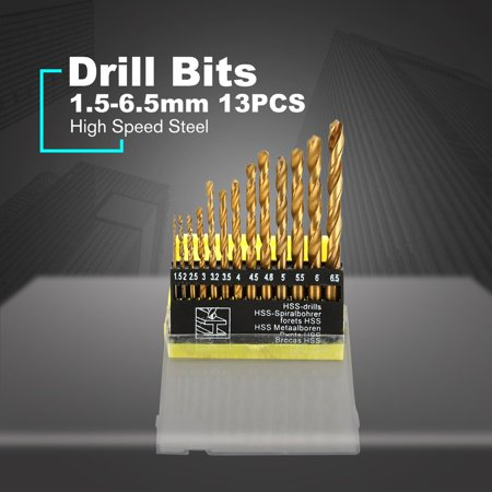 HSS Drill Bits 1.5-6.5mm Rotary Tool Hole Saw Titanium Coated Woodworking - image 10 of 10