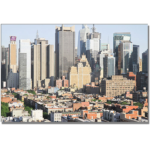 "Trademark Fine Art ""City VI"" Canvas Wall Art by Ariane Moshayedi"